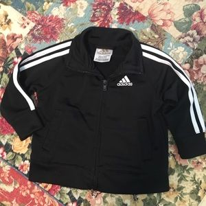 Adidas light weight soft shell jacket size 9mos